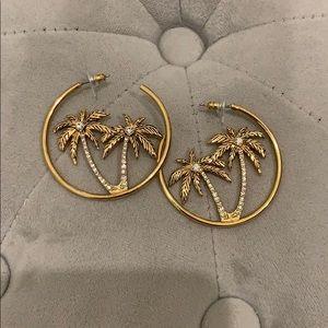 Gold Palm Tree Earrings